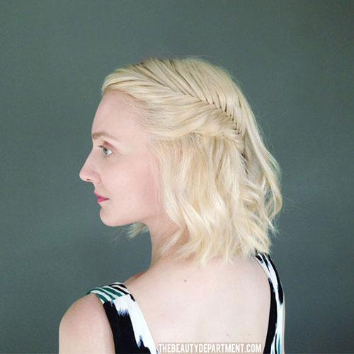 Short-hair-half-Updo