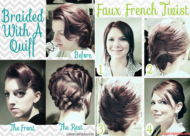Fabulous Hair Tutorials For Short Hair - Easy hairstyle for short hair tutorial