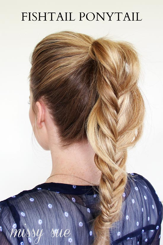 braided-fishtail-ponytail