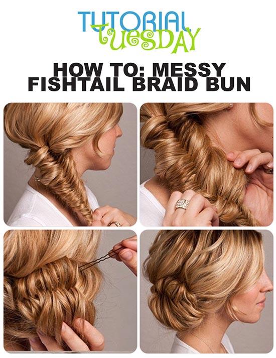 Brilliant 8 Easy Messy Buns For Long Hair Short Hairstyles Gunalazisus