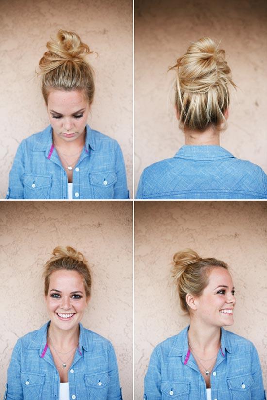Strange 8 Easy Messy Buns For Long Hair Short Hairstyles Gunalazisus