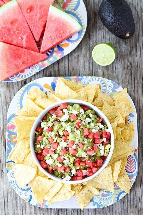 Watermelon-Feta-Guacamole