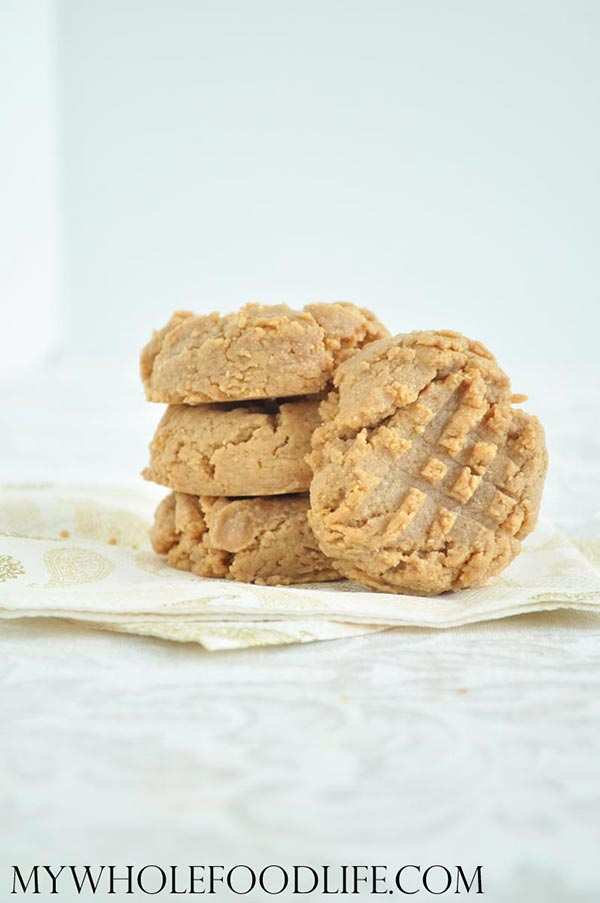 3-Ingredient-Peanut-Butter-Cookies-My-Whole-Food-Life